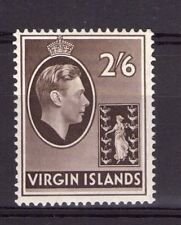 British Virgin Islands 2/6  single, GeorgeVI, 38  SG118 Sepia chalk hinged.