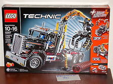 "NEW SEALED LEGO 9397 TECHNIC LOGGING TRUCK SEMI CRANE POWER FUNCTION 20"" LONG"