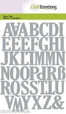 Craft Emotions Cutting Dies - Large Uppercase Alphabet - 0501 - New Out
