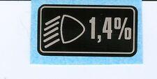 Rover Dip Head Light Sticker for Rover Mini Metro Maestro Montego 100 200 400