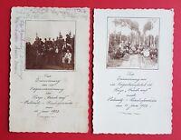 2 x AK PULSNITZ Bischofswerda 1922 Turner Riege Frisch auf     ( 24765