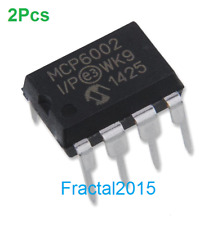 2Pcs MCP6002-I/P MCP6002 ORIGINAL 1 MHz Bandwidth Low Power Op Amp DIP-8