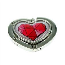 Heart Handbag Hanger with Geometric Red Heart Design XHBH58