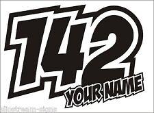 """3x Numéro de course race Nom & Numéro RALLYCROSS, Motorsport"""""""