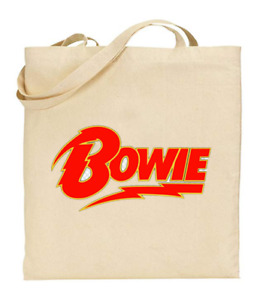 Shopper Tote Bag Cotton Canvas Cool Icon Stars Bowie Cartoon Ideal Gift Present