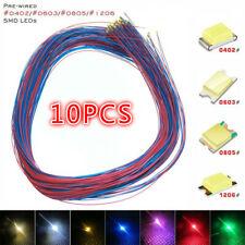 10pcs Pre Soldered Micro Led Pre Wired Light Diy Model Kit 0402 0603 0805 1206