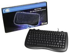 CIT Mini Multimedia Keyboard KB-8118CB PS2 & USB (with adapter in box)