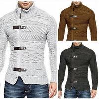Men's Knit Wear Turtleneck Jumpers Sweaters Slim Basis Tops Pullover Hoodies