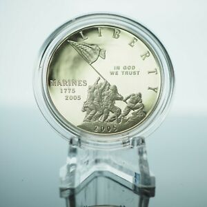 💎 2005 P Marines GEM PROOF Silver Dollar Commemorative Coin with Capsule 💎