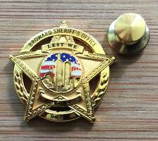 BSO - Broward Sheriff's Office - 9/11 10th Anniv commemorative badge lapel pin