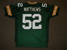 Clay Matthews Green Bay Packers Green Authentic Jersey by Reebok sz 52 New Mens