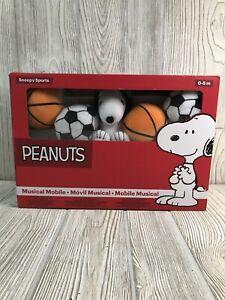 Bedtime Originals Snoopy Sports Musical Baby Crib Mobile Peanuts Gang Nursery