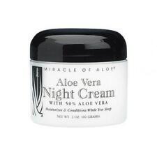 Aloe Vera Night Cream with 50% Pure UltraAloe 2 Ounce