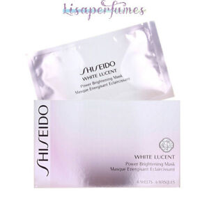 Shiseido White Lucent Power Brightening Mask 6 Sheets NIB