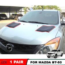 Equip 12-15 Mazda BT-50 BT50 Pro Matte Black Hood Scoop Bonnet Cover