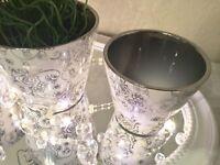 3er Set Keramik Vase BLOOM Rose Blumenvase Tischvase Dekovase Rund Deko
