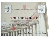 VATICANO Certficato Filatelico Alti Valori 10 +10 euro, omaggio a Papa Francesco