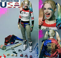 1/6 Suicide Squad Harley Quinn Head Sculpt Clothing Hammer Set U.S.A. SELLER
