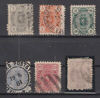BF5831/ FINLAND – COAT OF ARMS – 1875 / 1882 USED CLASSIC LOT – CV 415 $
