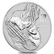 2020 1 oz Silver Lunar Year of The Mouse / Rat BU Australian Perth Mint In Cap