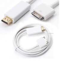 For iPad 1 2 3 iPhone 4 4s New 6FT 30Pin Dock Connector to HDMI TV Adapter Cable