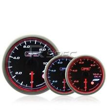 Prosport 52mm Oil Temperature Gauge Smoked Stepper WRC Style