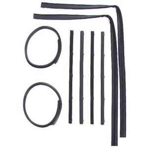 Window Sweeps Felt Kit, Front Left and Right Hand 8pc for 1972-80 Dodge/Plymouth