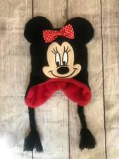 New listing Disney Big Girls Minnie Mouse Polka Dot Laplander Winter Black/Red Hat Sz Os