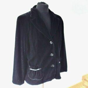 Country Casuals (CC) Black Velvet Boho 70s style Retro Jacket UK 16