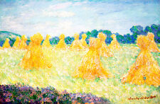 The Young Ladies of Giverny Sun Effect by Claude Monet A1+ Quality Art Print