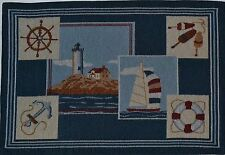 Tapestry Placemat~Lighthouse~Sailboat~Anchor~Wheel~Ocean~Beach~Sea~Nautical~NEW!