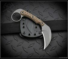 RMJ Tactical Knife KORBIN Nitro-V Hyena Brown G10 Kydex Sheath Authorized Dealer