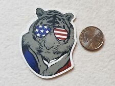 Tiger Wearing American Shades Sunglasses Sticker Decal