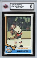 1974-75 Topps #195 Denis Potvin RC Graded 5.0 EX (100519-118)