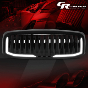 GLOSSY FRONT VERICAL GRILLE GRILL+U-LED DRL FOR 2006-2009 RAM 1500 2500 3500