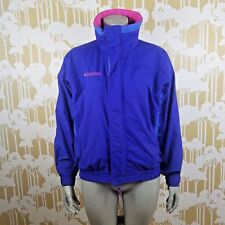 Columbia Bugaboo Vintage 90's Size 14/16 Windbreaker Full Zip Neon Jacket