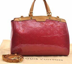 Auth Louis Vuitton Vernis Brea MM 2way Shoulder Hand Bag Purple LV A5846