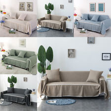Heavy Cotton Blend Slipcover Chair Couch Sofa Covers Protector for 1 2 3 4 Seat