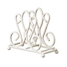 De Lis Cream Metal Wire Napkin Holder Shabby Chic Tissue Serviette Storage New