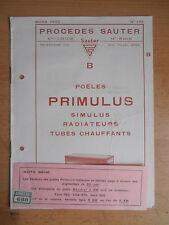 Catalogue poêles, radiateurs Primulus 1933  ( ref 1 )