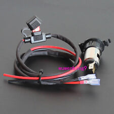 Car Moto Cigarette Lighter Power Socket Plug Waterproof and fuse holder  lines