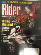 Rider Magazine November 1991 Dueling Starships! Kawasaki Councours vs Honda ST11