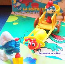 50  Grand Schtroumpf + escargeot  pitufo puffo smurf puffi chariot puffo pitufo