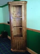 Stunning Rustic Plank Style Tall Corner Unit (MADE TO ANY SIZE)