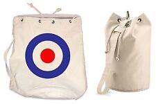 MOD TARGET DUFFLE BAG - College Rucksack Gym Paul Weller The Who Jam Sports