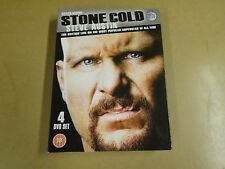4-DISC DVD BOX / STONE COLD - STEVE AUSTIN - THE BOTTOM LINE ON THE MOST...