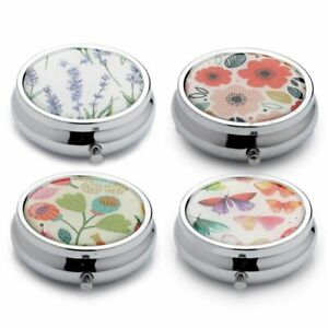 Pick Of Bunch Botanical  3 Day Pill Box -  Medicine Case Tablet Storage Tin Gift