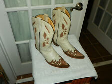 Corral R2313 Pearl and Brown Sculpted Pointed Toe Cowgirl Boots Women's sz 10 M