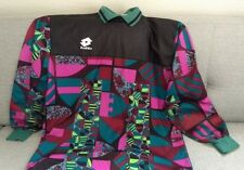 VTG 80s Lotto Mens Soccer Jersey Goalie Top Sz XL Purple Green Print Italy B13