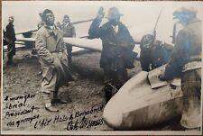 ✒ Photo dédicacée OSKAR URSINUS à Georges ABRIAL aviation planeur segelflug